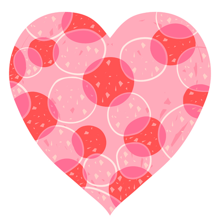 Vector heart design in pink and red for Valentines day background and greeting cards.