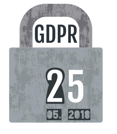 General Data Protection Regulation - GDPR concept design with a padlock