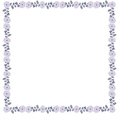 Square violet flower border