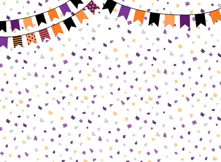 Cute background with party bunting flags for  Halloween graphic design Illustration