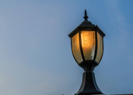 vintage a lamplight in evening
