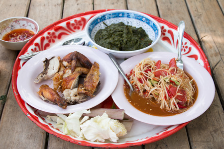 thai food of north-east of thailand