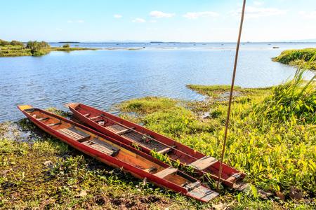 Landing ship canoe at lagoons