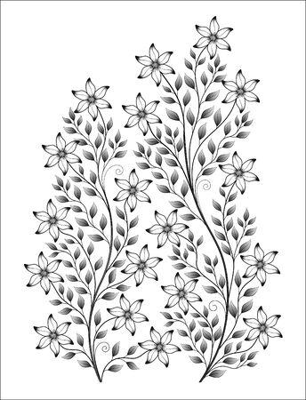 illustration flower isolated pattern on white background