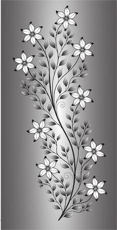 illustration flower pattern on gradient background