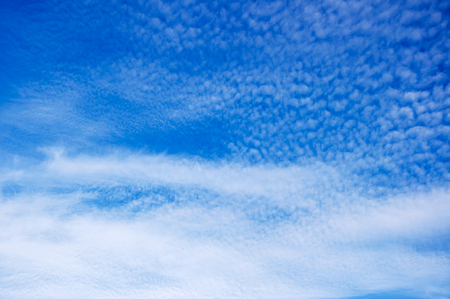 elysium: Blue sky with white clouds Stock Photo