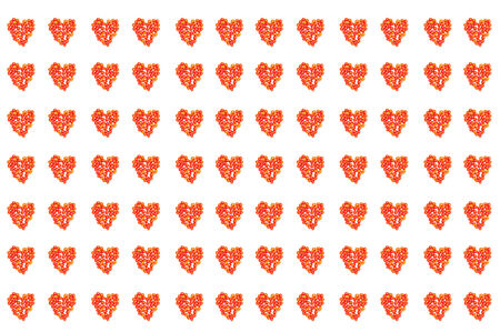 Heart pattern arrange from tomatoes photo