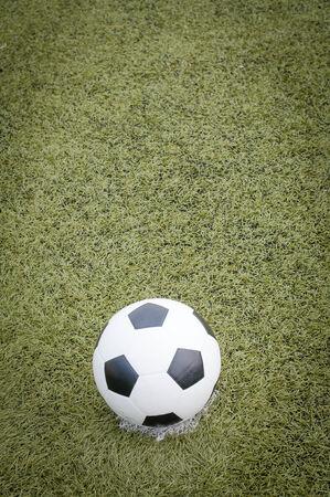 soccer ball on soccer field photo