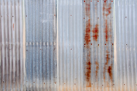 Old Texture and rusty zinc fence background