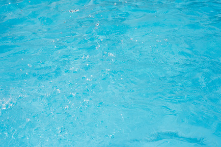 Blue swimming pool surface background Stock Photo