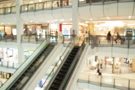 shopping malls: department store blurred Stock Photo