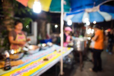 night market: bokeh from night market Stock Photo