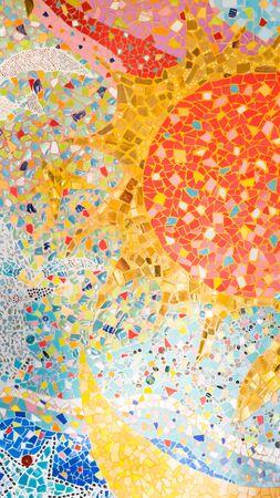 mosaic background: Colorful mosaic background Stock Photo