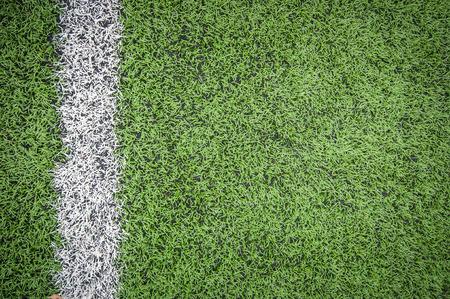 pasto sintetico: Línea del campo de fútbol detalle de fondos o la textura