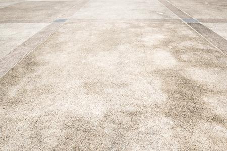 walkway: plain cement floor, perspective view