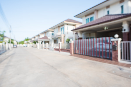 photo of blur housing estate