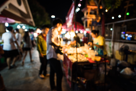 bokeh from night market Stock Photo