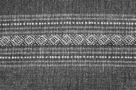 Texture of handmade Thai silk and cotton,black and white