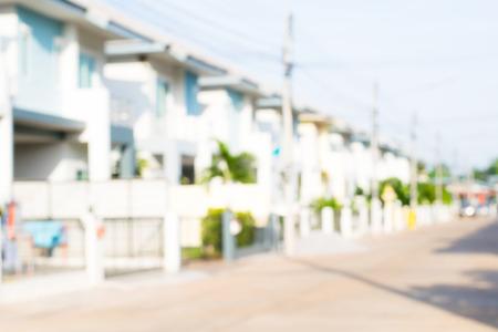 photo of blurred housing estate