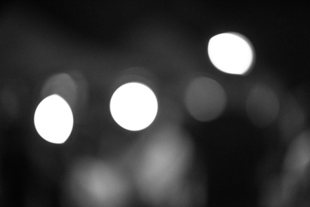 gray bokeh from night light