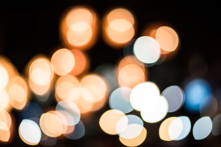 Blurred of city at night with bokeh Standard-Bild - 109998333