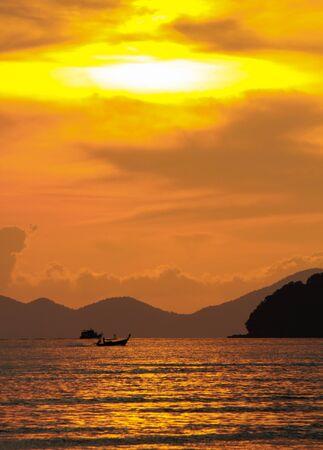 aonang: sunset at Aonang Krabi Thailand Stock Photo