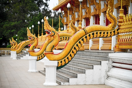 Nagas at wangnoi pagoda photo
