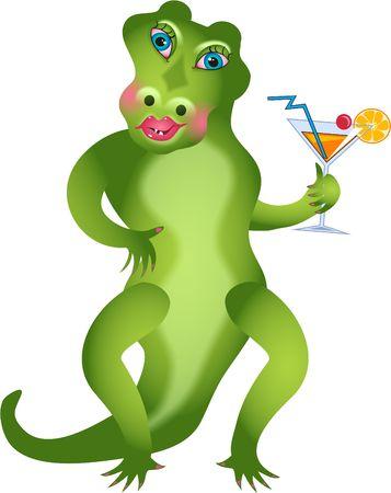 girlie: girlie gator Stock Photo