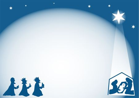 christ the king: nativity background Stock Photo