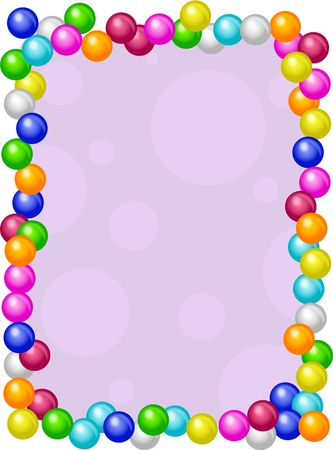 candy border: gumballs border Stock Photo