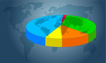 commissions: pie chart Stock Photo