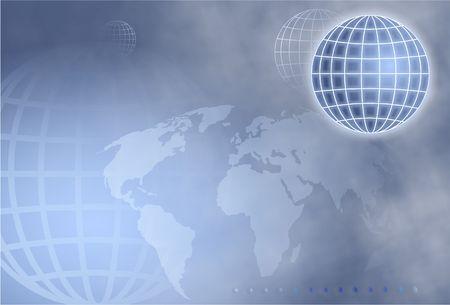 grid globe photo