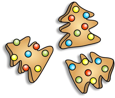 cooky: Christmas tree cookies