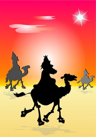 the three wisemen follow the star photo