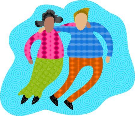 racial: groovy couple