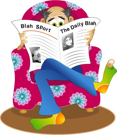 reading news: the daily blah Stock Photo