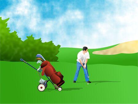 caddy: golfer