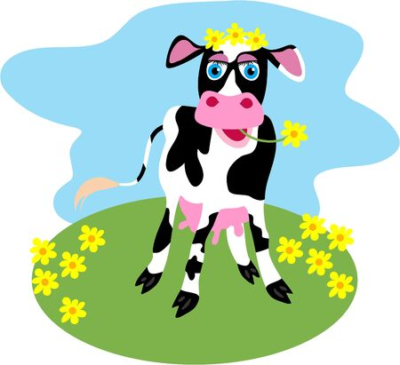 vaca caricatura: vaca lechera