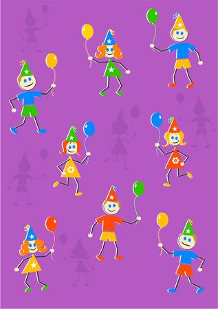 party kids background design Stock Photo