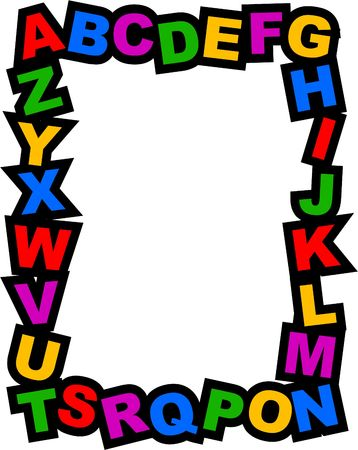 frames and borders: alphabet frame