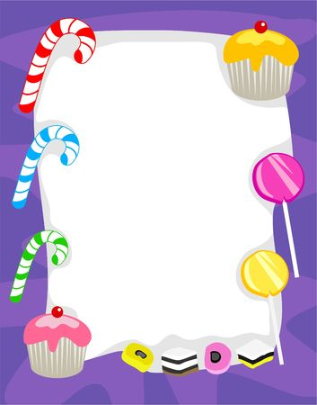 candy border photo
