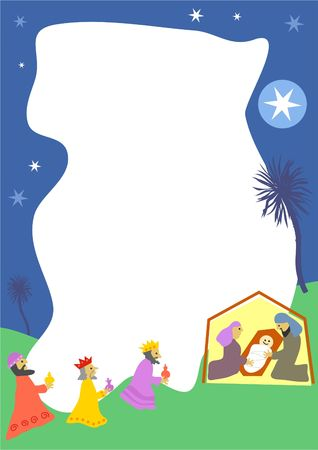 religious event: nativity Christmas border