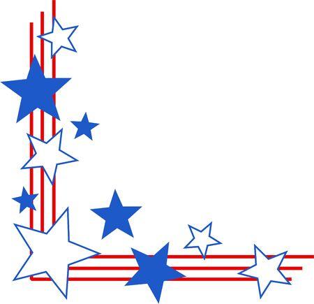 corner border: patriotic page corner border