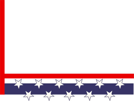 patriotic page corner border Stock Photo - 242059