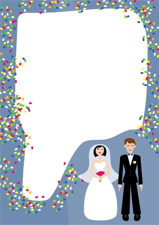 vows: wedding frame Stock Photo