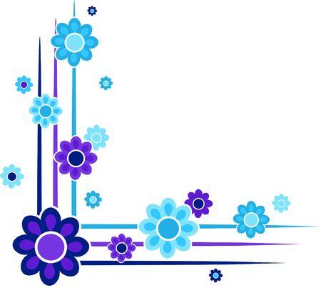 bordure de page: fronti�re florale de coin de page. Chiquenaude juste � ajouter aux autres coins de votre page. Banque d'images