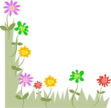 frames and borders: floral page corner border. Just flip to add to the other corners of your page.