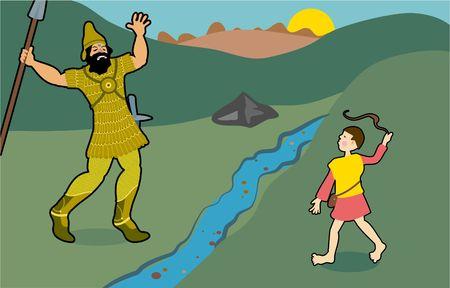 historias biblicas: David y Goliat