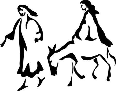 man ass: Mary and Joseph
