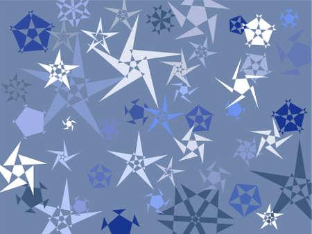 winter blues: snowstars background design